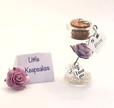 MUM GIFT. A BEAUTIFUL MINIATURE (4cm) BOTTLE KEEPSAKE. . BIRTHDAY, MOTHERS DAY