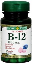 Nature's Bounty Vitamin B-12 1000 mcg Tablets 100 Tablets