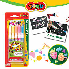 Toru Popcorn Color Drawing,Card Decoration 5colors Pen  For Kids