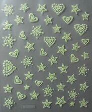 Accessoire ongles : nail art -Stickers autocollants, fleurs phosphorescentes