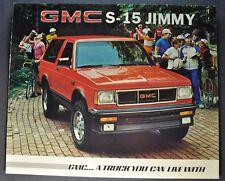 1985 GMC S-15 Jimmy Truck Brochure Sierra Classic 4x4 Excellent Original 85