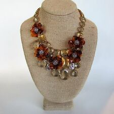 J.Crew TORTOISE FLOWER Necklace~*~f6519~Sundried Linen ~*~NWT