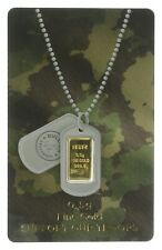 0.5 Grams 999.9 Fine Gold Bar - Support Our Troops - Bullion Exchanges *552