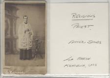 Antique CDV photo Priest Father Jacobs Kenosha Wisconsin