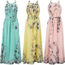 Womens Sexy Floral Long Maxi Dress Ladies Summer Sundress UK Plus size S-6XL