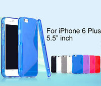 """Screen Protector/S line Skin Soft Gel Back Case For iPhone 6 Plus 5.5"""" inch"""