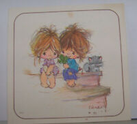 Vintage Greeting Card American Raggamuffins Adorable Cute Little Kids Cat Kitty