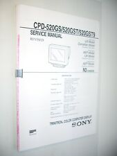Service Manual monitor Sony CPD-520