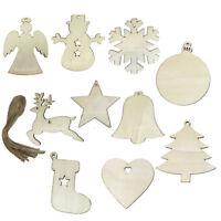 20 Christbaumschmuck Anhänger Holz Weihnachtsbaum Deko Engel Elch Sterne Glocken