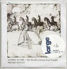 SCHOOL IS COOL - THE WORLD IS GONNA END TONIGHT - RARE UK ONLY PROMO CD SINGLE