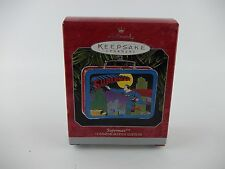 1998 Hallmark SUPERMAN Mini TIN LUNCHBOX Keepsake Christmas Tree Ornament