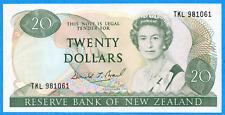 Reserve Bank of New Zealand 1985-89 $20 Twenty Dollars Note - AU