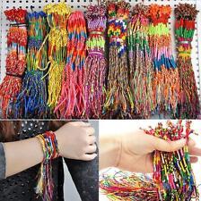 NT 50pcs Wholesale Bulk Lots Colorful Braid Friendship Cords Strands Bracelets