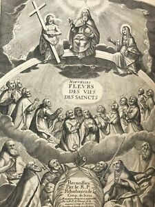 LES NOUVELLES FLEURS DE LA VIE DES SAINTS 1666 Ribadeneira GRAVURES In-folio