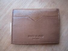 RIVER ISLAND LEATHER TAN HOLD OUT CARD HOLDER RRP £10**NEW FREE P&P**