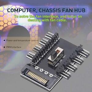 Fan 1 to 8 Channel Hub SATA/IDEM 12V 4Pin Power Supply Splitter Adapter PC PWM
