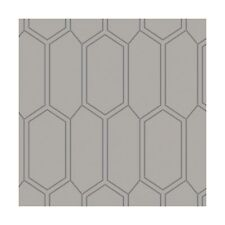 Fabric Honeycomb Design Blender Grey on Cotton 1/4 Yard (48)