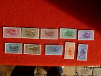 ITALIAN COL. STATE STAMPS SET OF 10 STAMPALIA 1932  MH