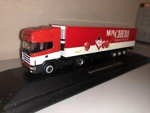 Herpa 1:87  Scania Topline 144 Mon Cheri In PC Box