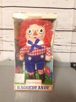 Original Raggedy Andy Folk Doll in Package by Knickerbocker Toy Co - Vintage!