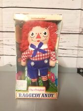 Original Raggedy Andy Folk Doll in Package by Knickerbocker Toy Co - Vintage!