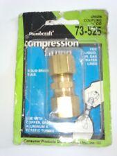 "New listing Brass Compression Tube Fitting, Union, 1/2"" x 1/2"" Tube Od,read description"