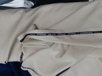 140s Cashmere Wool Ivory Suiting fabric suit pants jacket blazer made Italy