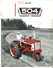 International McCormick Farmall Row-Crop & International 504 Utility Brochure