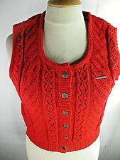 Trachtenweste Strick Vintage Strickjacke Damenstrickweste Strickweste von Geiger
