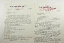 1931 Lamson Goodnow Hotel & Restaurant Supply Buffalo NY Letter Ephemera P1562F