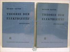 Becker-Sauter, THEORIE DER ELEKTRIZITAT ELETTRICITA' 1-2 Teubner 1962 Relatività