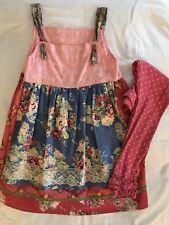 Matilda Jane Good Hart Firecracker Dot Sprinkle Leggings Sparkletown Dress Sz 10