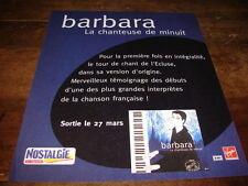 BARBARA - PUBLICITE LA CHANTEUSE DE MINUIT !!!!!!!!!!!!