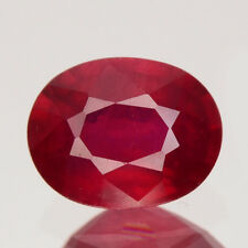Only! $29.99/1pc 9x7MM Oval 100%Natural Deep Pigeon Blood Red RUBY GEM