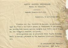 Partito Fascista Repubblicano Conselice - Sequestro di Lancia Aprilia 1943
