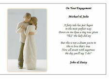 Personalised Poem Gift - Congratulations on your Engagement - Unique Present