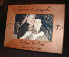 Personalized Engraved Engagement 4x6 Frame  We're Engaged