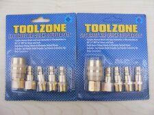 Toolzone 10pc PRO Fine Linea Aria attacco Rapido Set Compressore Accoppiamento 1/4 NPT BSP