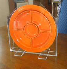 HOLDER FOR FIESTA RELISH TRAY  -PLEXIGLASS -UPRIGHT VERSION!    -GO ALONG