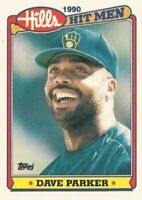 1990 Topps Hills Hit Men Baseball #21 Dave Parker Milwaukee Brewers