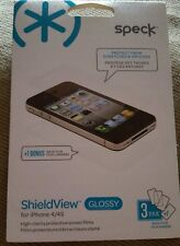 Speck ShieldView Glossy Screen Protector for iphone 4/S pack of 3 + bonus back
