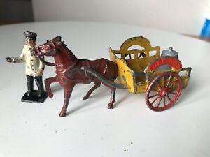 Vintage Lead Cart Lead Farm , milk cart, Charbens, Britains -