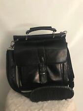Bosca Women's Messenger Black Leather Bag