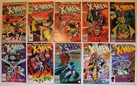 Uncanny X-Men Vol 1 Issues 146 256 281 Marvel Wolverine Jim Lee 10 Book Lot 1981