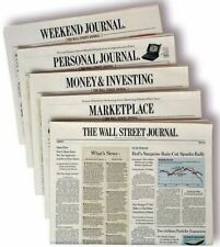 Wall Street Journal Subscription Print & Digital 1 Year WSJ 4-5 DAY START TIME