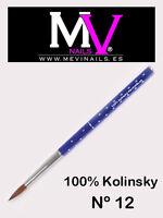 Pincel 100% Kolinsky Nº 12 Mevinails - Acrilico - porcelana  pinceles - monomero