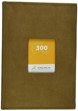 """Suede Cover Brown Photo Album Holds 300 4""""x6"""" pictures, 3 per page"""