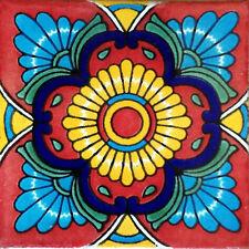 25 Mexican Tiles Talavera Ceramic Handmade Mexico #C076