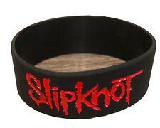 SLIPKNOT- Rubber Silicone Bracelet Wristband  Rock Band Logo - New