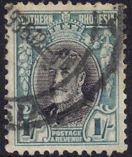 Southern Rhodesia 1935 1s George V (1910-1936) sg 23a used